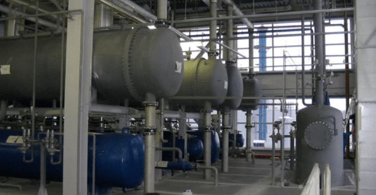 Boiler room inside a commercial building